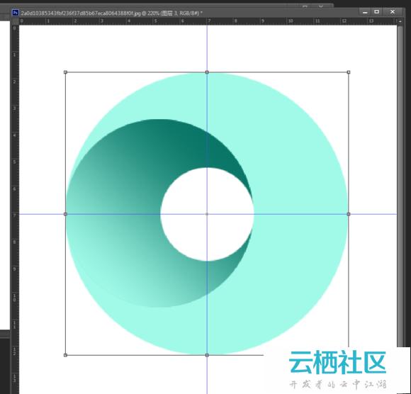 photoshop三维立体圆形旋涡图形图标制作教程