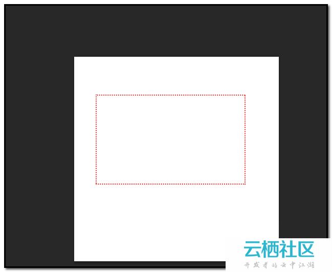 如何用ps画出虚线矩形图片