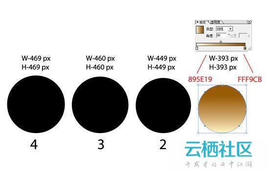 Illustrator利用鼠标简单绘制金色指南针教程-金色指南针